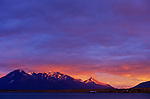 Andes at sunset, Chile, South America