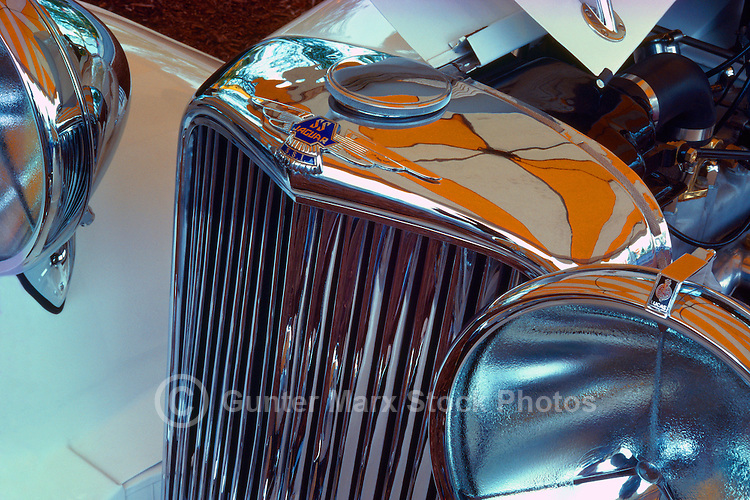 Detail of a Jaguar Vintage Car