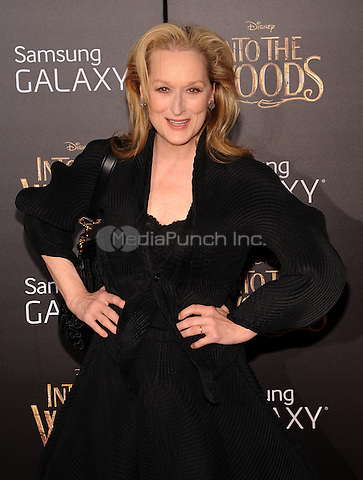 New York,NY-December 8: Meryl Streep Attends the 'Into The Woods' world premiere at the Ziegfeld Theater on December 8, 2014. Credit: John Palmer/MediaPunch
