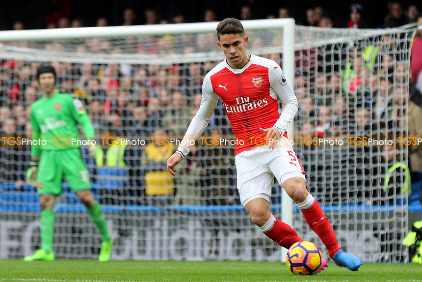 Gabriel of Arsenal during Chelsea vs Arsenal, Premier League Football at Stamford Bridge on 4th February 2017