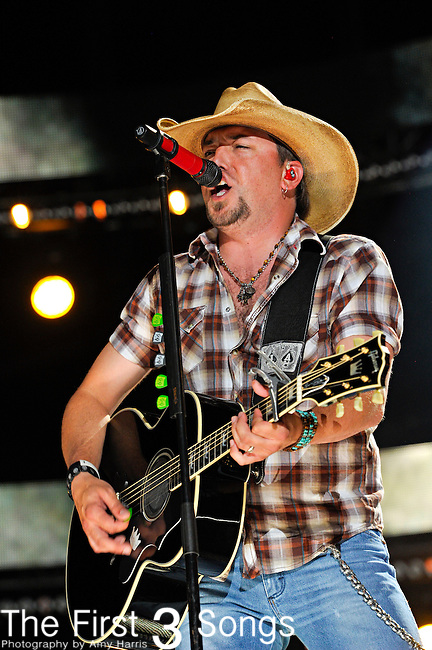 Jason Aldean performs at LP Field during the 2012 CMA Music Festival on June 07, 2011 in Nashville, Tennessee.