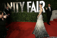 Hilary Swank arrives at the 2011 Vanity Fair Academy Awards Oscars® Party at Sunset Tower Hotel in West Hollywood.