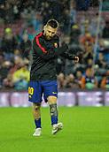 4th November 2017, Camp Nou, Barcelona, Spain; La Liga football, Barcelona versus Sevilla; Leo Messi warms up