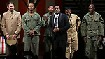 """Kenny Leon with cast During the Broadway Opening Night Curtain Call Bows for The Roundabout Theatre Company's """"A Soldier's Play""""  at the American Airlines Theatre on January 21, 2020 in New York City."""