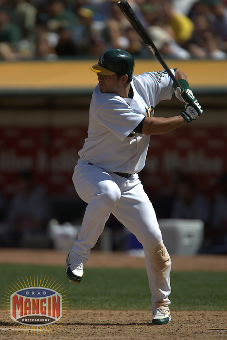 Eric Chavez. Baseball: Minnesota Twins vs Oakland Athletics. Oakland, CA 8/13/2005 MANDATORY CREDIT: Brad Mangin