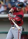 Sacramento River Cats&rsquo; Joe Panik hits against the Reno Aces at Greater Nevada Field in Reno, Nev., on Tuesday, July 26, 2016.  <br />Photo by Cathleen Allison