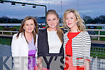 TEACHERS AT THE TRACK: Having a great time at the Mounthawk secondary school Night at the Dogs at the Kingdom Greyhound Stadium on Saturday l-r: Karen Blennerhassett, Tara O'Shea and Veronica Hunt.