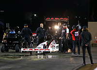 Jun 1, 2018; Joliet, IL, USA; Crew members for NHRA top fuel driver Steve Torrence during qualifying for the Route 66 Nationals at Route 66 Raceway. Mandatory Credit: Mark J. Rebilas-USA TODAY Sports
