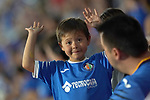 Getafe CF's kid suppoert during friendly match. August 10,2019. (ALTERPHOTOS/Acero)