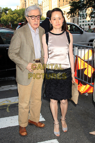 NEW YORK, NY - JULY 17: Woody Allen and Soon-Yi at the New York Premiere of &quot;Magic in the Moonlight&quot; at the Paris Theatre on July 17, 2014 in NEW YORK CITY<br /> CAP/LNC/TOM<br /> &copy;TOM/LNC/Capital Pictures