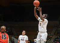 Afure Jemerigbe of California shoots the ball during the game against Oregon State at Haas Pavilion in Berkeley, California on January 3rd, 2014.  California defeated Oregon State, 72-63.