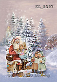 Interlitho, Patricia, CHRISTMAS SANTA, SNOWMAN, nostalgic, paintings, santa, kids, singing(KL5397,#X#) Weihnachten, nostalgisch, Navidad, nostálgico, illustrations, pinturas