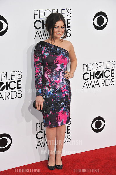 Lucy Hale at the 2014 People's Choice Awards at the Nokia Theatre, LA Live.<br /> January 8, 2014  Los Angeles, CA<br /> Picture: Paul Smith / Featureflash