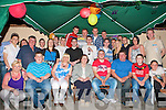 18TH BIRTHDAY: Johnny Power, Ballyrickard Court (seated 4th left) enjoying a great time celebrating his 18th birthday with family and friends at his home in Ballyrickard Court on Saturday.