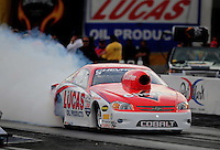 Oct. 31, 2008; Las Vegas, NV, USA: NHRA pro stock driver Dave Connolly during qualifying for the Las Vegas Nationals at The Strip in Las Vegas. Mandatory Credit: Mark J. Rebilas-