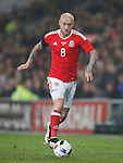 David Cotterill of Wales during the international friendly match at the Cardiff City Stadium. Photo credit should read: Philip Oldham/Sportimage via PA Images
