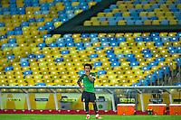 RIO DE JANEIRO, 29.06.2013 - COPA DAS CONFEDERAÇÕES - TREINO / BRASIL - Marcelo do Brasil durante treinamento na véspera da partida final da Copa das Confederações contra a Espanha no Estádio do Maracanã na cidade do Rio de Janeiro, neste sábado, 29. (Foto: Agustin Cuevas/ Brazil Photo Press).