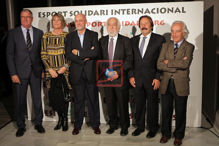XIe Sopar Solidari d'ESI (Esport Solidari Internacional).<br /> Josep Maldonado, Albert Agusti &amp; Francesc Orriols con otros invitados.