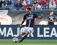 Foxborough, Massachusetts - September 23, 2017: In a Major League Soccer (MLS) match, New England Revolution (blue/white) defeated Toronto FC (red), 2-1, at Gillette Stadium.