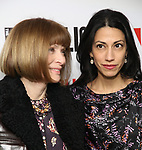 """Anna Wintour and Huma Abedin attend the """"Sea Wall / A Life"""" opening night at The Public Theater on February 14, 2019, in New York City."""