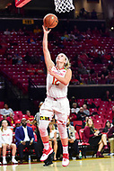 College Park, MD - NOV 21, 2017: Maryland Terrapins guard Kristen Confroy (12) goes up for a lay up during game between the Howard Lady Bison and the Maryland Terrapins at the XFINITY Center in College Park, MD.  (Photo by Phil Peters/Media Images International)