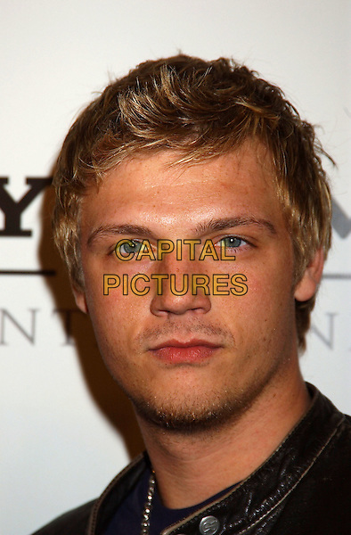 NICK CARTER - BACKSTREET BOYS.Sony BMG Grammy Party 2005 held at the Roosevelt Hotel, Los Angeles, California.February 13th, 2005.Photo Credit: Laura Farr/AdMedia.headshot portrait stubble facial hair.www.capitalpictures.com.sales@capitalpictures.com.© Capital Pictures.