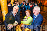 Malcolm Willis from Killarney, pictured with Elma and Fionnbar Walsh, won the overall prize in the adult category at the National Live Life Film Competition in the Brandon Conference Centre yesterday (Wednesday).