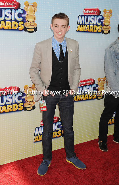 LOS ANGELES, CA- APRIL 27: Actor Dylan Riley Snyder arrives at the 2013 Radio Disney Music Awards at Nokia Theatre L.A. Live on April 27, 2013 in Los Angeles, California.