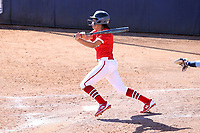 GREENSBORO, NC - FEBRUARY 22: Tahlia Brown #11 of Fairfield University hits the ball during a game between Fairfield and North Carolina at UNCG Softball Stadium on February 22, 2020 in Greensboro, North Carolina.