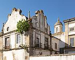 Ops historic buildings in city centre of nEvora, Alto Alentejo, Portugal
