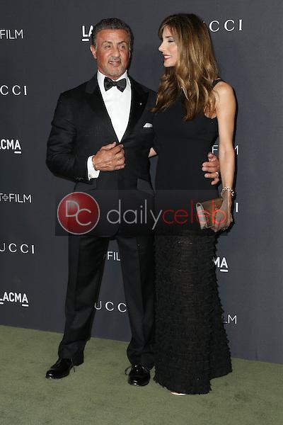 Sylvester Stallone, Jennifer Flavin<br /> at the 2016 LACMA Art +  Film Gala, LACMA, Los Angeles, CA 10-29-16<br /> David Edwards/DailyCeleb.com 818-249-4998