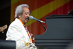 Allen Toussaint performs during the New Orleans Jazz & Heritage Festival in New Orleans, LA.