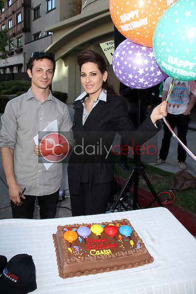 Mike Prysner, Kerri Kasem<br /> at the Casey Kasem's 82nd Birthday Vigil, outside the facility where he is being kept away from all who love him, Berkley East Convalescent Center, Santa Monica, CA 04-27-14<br /> David Edwards/DailyCeleb.com 818-249-4998