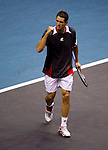 BANGKOK, THAILAND - OCTOBER 01:  Guillermo Garcia-Lopez of Spain celebrates a point to Ernets Gulbis of Latvia during the Day 7 of the PTT Thailand Open at Impact Arena on October 1, 2010 in Bangkok, Thailand.  Photo by Victor Fraile / The Power of Sport Images