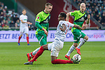 10.02.2019, Weser Stadion, Bremen, GER, 1.FBL, Werder Bremen vs FC Augsburg, <br /> <br /> DFL REGULATIONS PROHIBIT ANY USE OF PHOTOGRAPHS AS IMAGE SEQUENCES AND/OR QUASI-VIDEO.<br /> <br />  im Bild<br /> <br /> ReeceOxford (FC Augsburg #05)<br /> Johannes Eggestein (Werder Bremen #24)<br /> <br /> Foto &copy; nordphoto / Kokenge