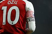 29th January 2019, Emirates Stadium, London, England; EPL Premier League Football, Arsenal versus Cardiff City; Mesut Ozil of Arsenal wears the captains arm band