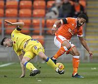 Blackpool's Liam Feeney battles with Bristol Rovers' Ollie Clarke<br /> <br /> Photographer Mick Walker/CameraSport<br /> <br /> The EFL Sky Bet League One - Blackpool v Bristol Rovers - Saturday 3rd November 2018 - Bloomfield Road - Blackpool<br /> <br /> World Copyright &copy; 2018 CameraSport. All rights reserved. 43 Linden Ave. Countesthorpe. Leicester. England. LE8 5PG - Tel: +44 (0) 116 277 4147 - admin@camerasport.com - www.camerasport.com