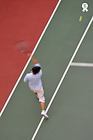 Tennis player on court, blurred motion (Licence this image exclusively with Getty: http://www.gettyimages.com/detail/84430548 )