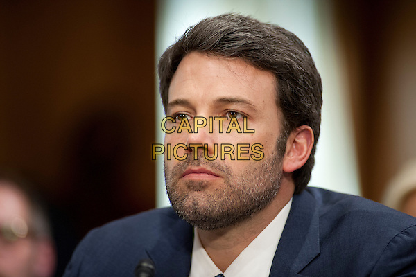 Washington, DC, FEBRUARY 26- Actor and Human Rights activist, Ben Affleck testifies at a U.S. Senate Committee on Foreign Relations hearing on Africa entitled Prospects for Peace in the Democratic Republic of Congo and Great Lakes Region. February 26, 2014. <br /> CAP/MPI/LYN<br /> &copy;Lynch/MediaPunch/Capital Pictures