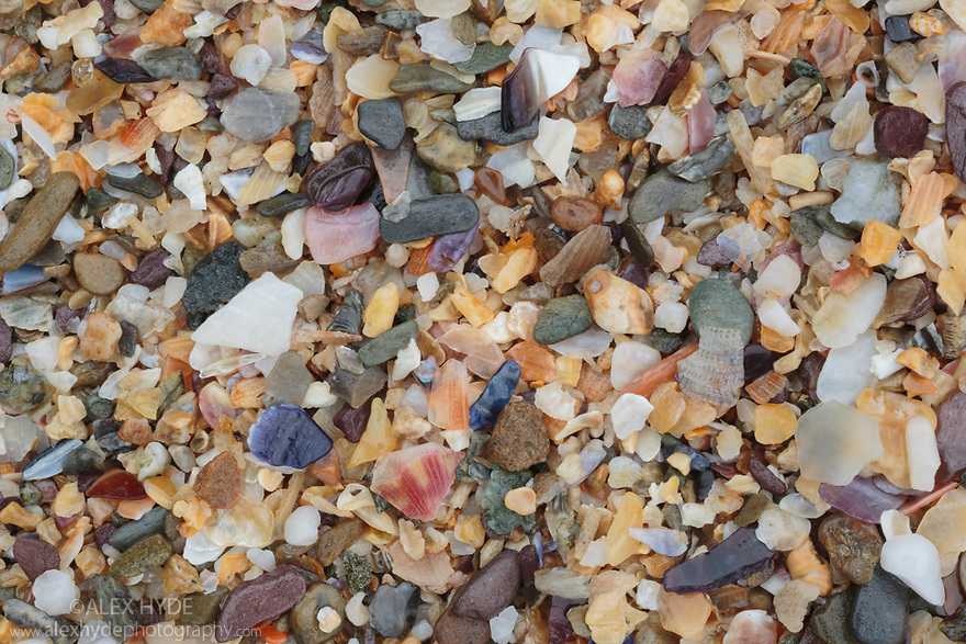 Close up sand details, Kedhlow Treth beach, Cornwall, UK. May. Focus stacked image.