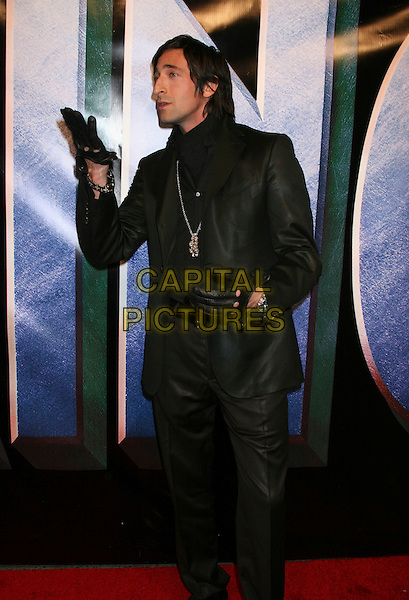 "ADRIEN BRODY.Universal Pictures' ""King Kong"" New York City Premiere - Arrivals at Loews E-Walk & AMC Empire Cinemas, New York City..December 5th, 2005 .Ref: IW.full length black jacket gloves trousers Adrian profile.www.capitalpictures.com.sales@capitalpictures.com.©Capital Pictures"