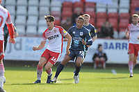 Arthur Iontton of Stevenage and Neil Danns of Bury during Stevenage vs Bury, Sky Bet EFL League 2 Football at the Lamex Stadium on 9th March 2019