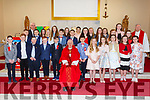 Pupils from St. Finian's National School who made their Confirmation in St. Finian's Church, Watervilleon Tuesday pictured here front l-r; Tom Boyle, Ronan Murphy, Ryan Griffin, Pearse O'Sullivan, Marcus Draper, Bishop Ray Browne, James Galvin, Eliza O'Sullivan, Maeve Courtney, India Duff, Aoife Cronin, Clíonadh O'Shea, middle l-r; Dylan Fitzgerald,  Ben Galvin, Clodagh Dwyer, Darren O'Sullivan, Jack Murphy, Sophie O'Sullivan, Kayleigh-Mai Walsh, Judyta Hydel, Lauren Fitzgerald, back l-r; Gearóid Moran (Principal), Aoibhínn Walsh, Lucy Higgins, Sarah Murphy, Emma Foran, Zoey Sugrue, Ellie Higgins, Catherine O'Connell, Fr Gerard Finucane.