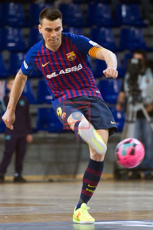 League LNFS 2018/2019 - Game 29.<br /> FC Barcelona Lassa vs Viña Albali Valdepeñas: 5-1.<br /> Sergio Lozano.
