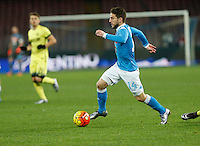 Napoli's Dries Mertens  controls the ball during the Quartef-final of Tim Cup soccer match,between SSC Napoli and vFC Inter    at  the San  Paolo   stadium in Naples  Italy , January 19, 2016