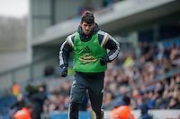BLACKBURN, ENGLAND - JANUARY 24:  Nelson Oliveira warms up  during the FA Cup Fourth Round match between Blackburn Rovers and Swansea City at Ewood park on January 24, 2015 in Blackburn, England.  (Photo by Athena Pictures/Getty Images)