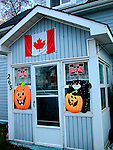 House decorated for halloween - Canada<br />