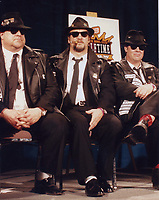 Blues Brothers6029.JPG<br /> <br /> 1997 <br /> John Goodman, James Belushi,<br /> Dan Aykroyd, James Brown 1997<br /> Photo to By John Barrett-PHOTOlink.net/MediaPunch