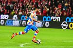 der Mainzer Gerrit Holtmann am Ball beim Spiel in der Fussball Bundesliga, 1. FSV Mainz 05 - Bayer 04 Leverkusen (dunkel).<br /> <br /> Foto &copy; PIX-Sportfotos *** Foto ist honorarpflichtig! *** Auf Anfrage in hoeherer Qualitaet/Aufloesung. Belegexemplar erbeten. Veroeffentlichung ausschliesslich fuer journalistisch-publizistische Zwecke. For editorial use only. DFL regulations prohibit any use of photographs as image sequences and/or quasi-video.