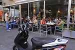 Israel, a sidewalk cafe' inTel Aviv